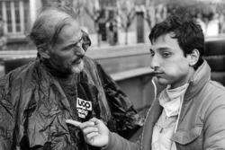 Don Nichols, Shadow-Teambesitzer, mit Riccardo Patrese
