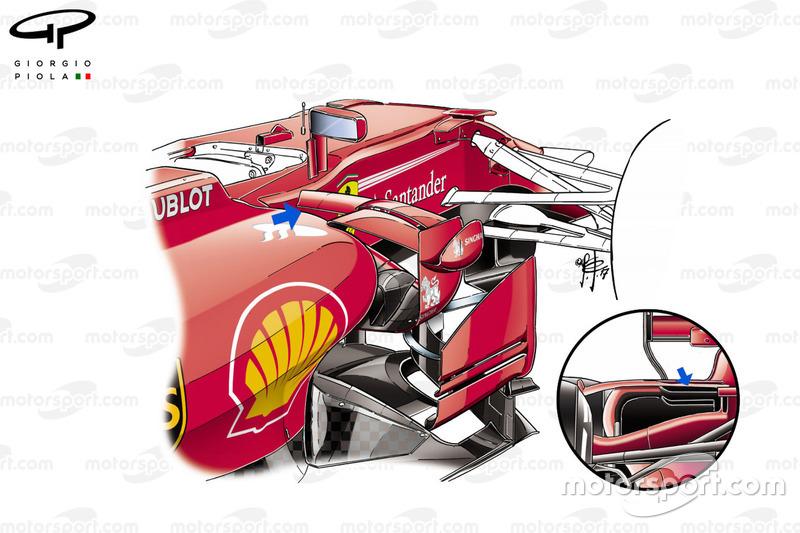 Ferrari SF70H kanatçık detayı