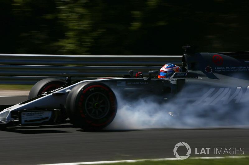 Verbremser: Romain Grosjean, Haas F1 Team VF-17