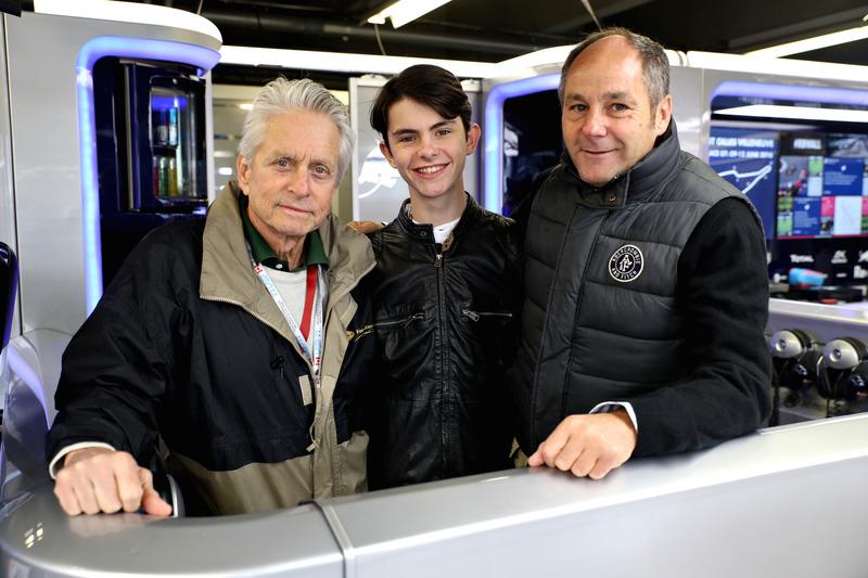 Майкл Дуглас з сином Діланом Майклом Дугласом та Герхардом Бергером