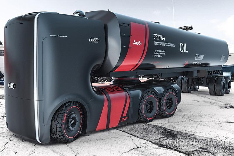 Concepto de camiones del futuro