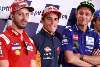 Andrea Dovizioso, Ducati Team, Marc Marquez, Repsol Honda Team, Valentino Rossi, Yamaha Factory Racing