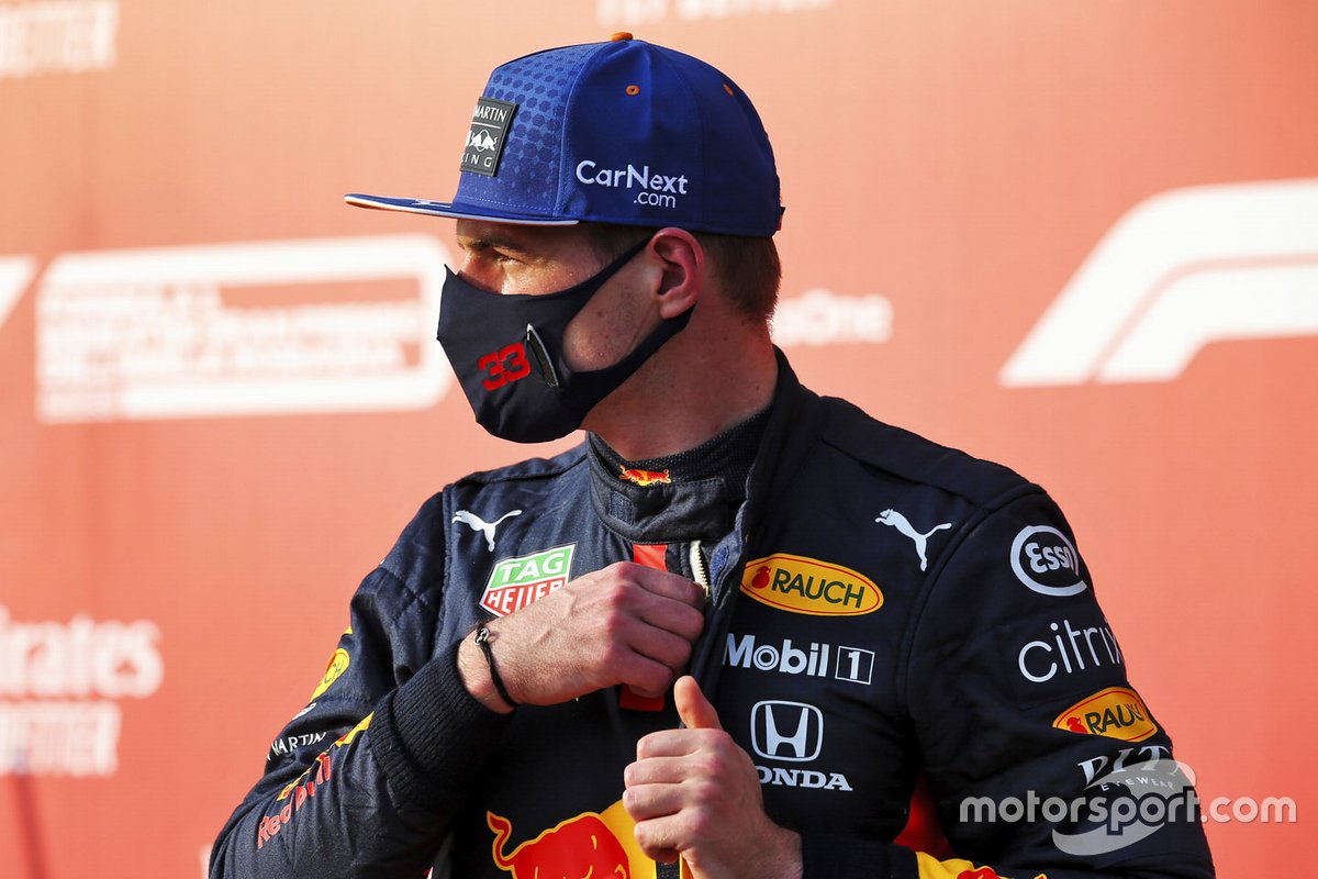 Third place Max Verstappen, Red Bull Racing in Parc Ferme