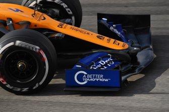 McLaren MCL34, dettaglio dell'ala anteriore
