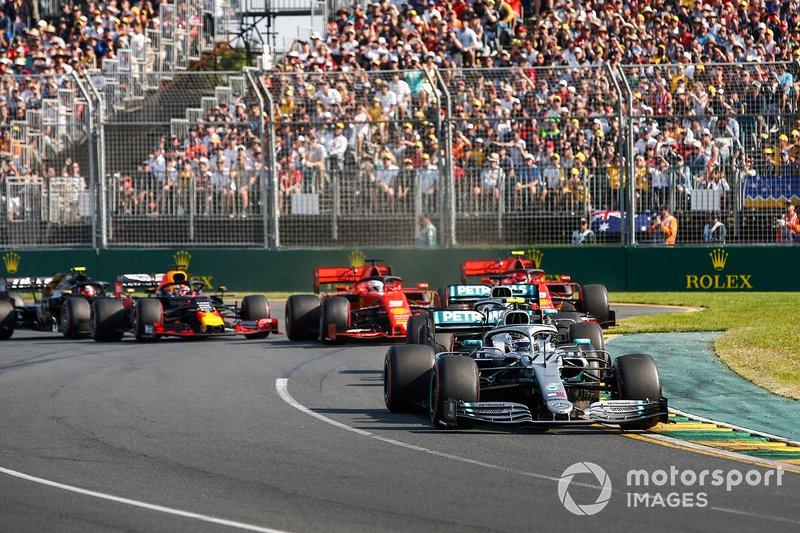 Valtteri Bottas, Mercedes AMG W10 líder al inicio