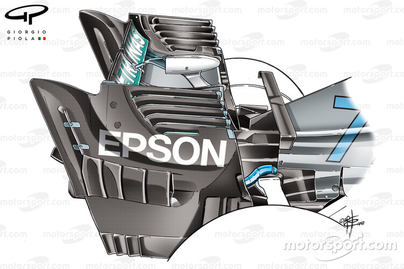 Mercedes W09 endplate, GP van Singapore