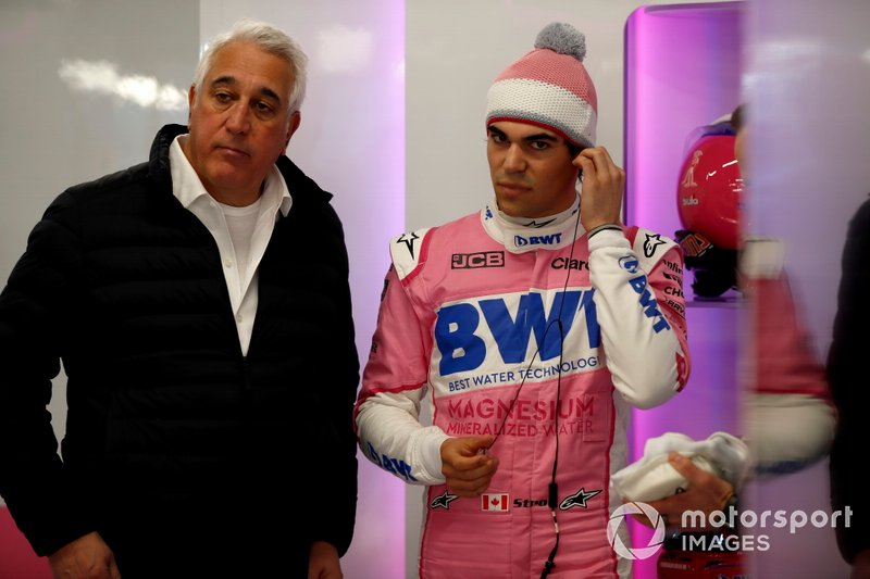 Lawrence Stroll, dueño de Racing Point, y Lance Stroll, Racing Point