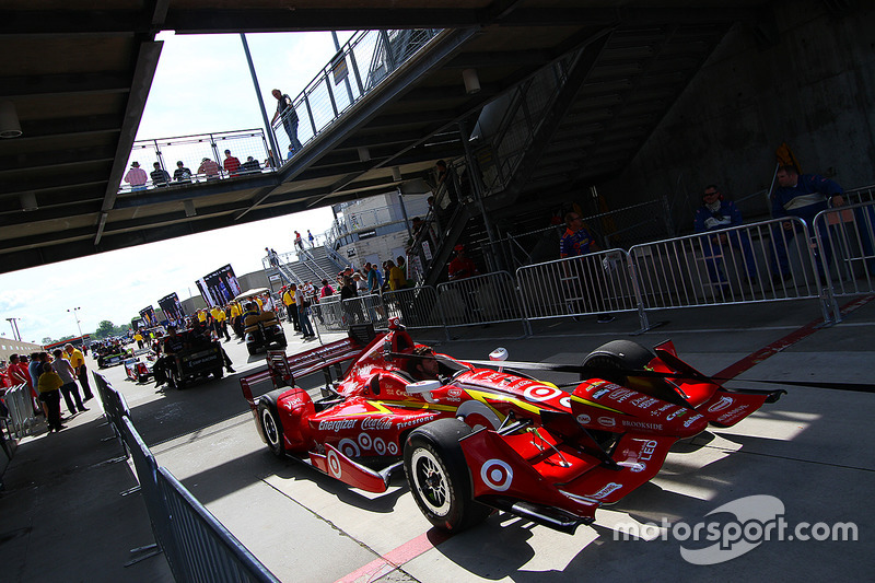 El auto de Scott Dixon, Chip Ganassi Racing Chevrolet