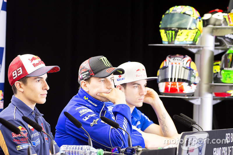 Marc Marquez, Repsol Honda Team, Jorge Lorenzo, Yamaha Factory Racing, Maverick Viñales, Team Suzuki MotoGP