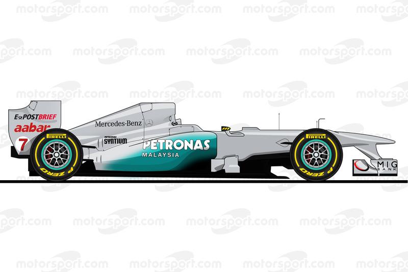 Michael Schumacher, Mercedes W02, 2011