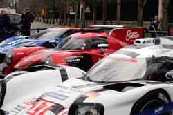 Porsche 919 Hybrid, RGR Sport by Morand LMP2, Ford GT in the streets of Paris