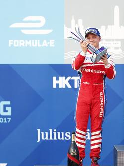 Podio: il secondo classificato Felix Rosenqvist, Mahindra Racing