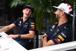 Max Verstappen, Red Bull Racing et Daniel Ricciardo, Red Bull Racing