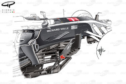 Haas VF-17 new bargeboard, United States GP