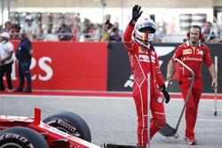 Third place qualifying Sebastian Vettel, Ferrari SF70H