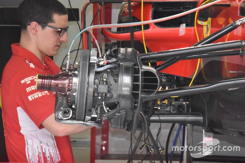 Frein avant de la Ferrari SF71H