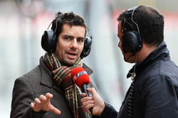 Ted Kravitz, Sky TV talks with Marc Priestley, former McLaren and Super Aguri F1 mechanic