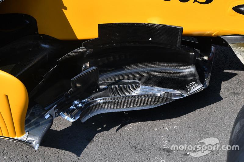 Detalle del bargeboard del RS17 del Renault Sport F1 Team