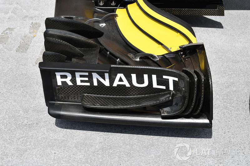 Vue détaillée de l'aileron avant de la Renault R.S.18