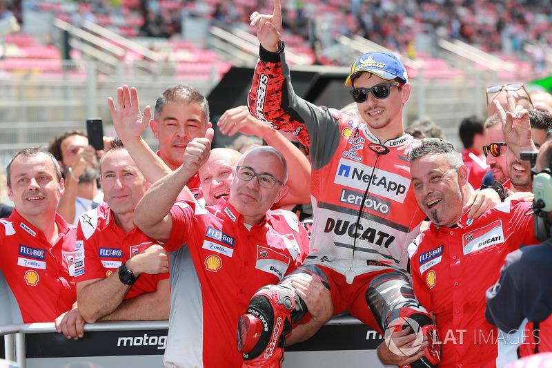 Pole position per Jorge Lorenzo, Ducati Team