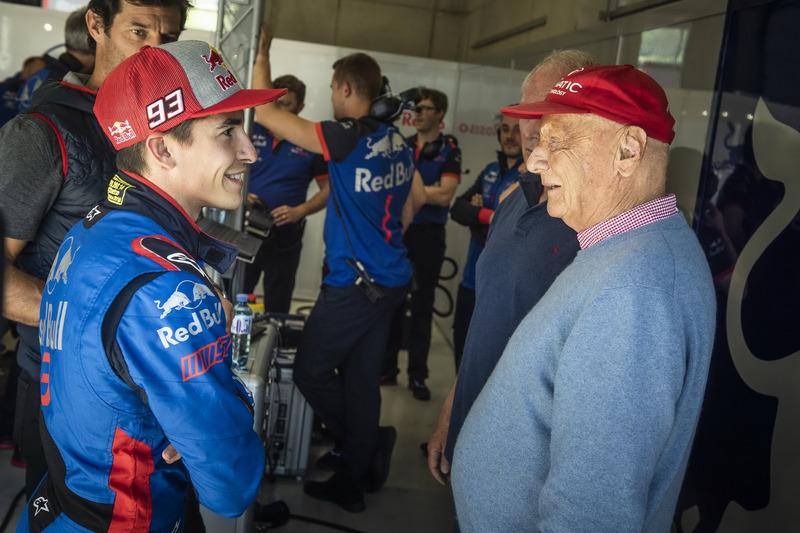Marc Marquez e Niki Lauda