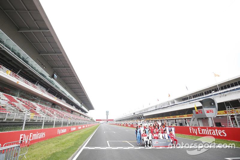 Foto de grupo de pilotos GP3 2018