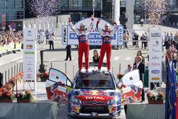 I vincitori Sébastien Loeb, Daniel Elena, Citroën C4 WRC, Citroën World Rally Team
