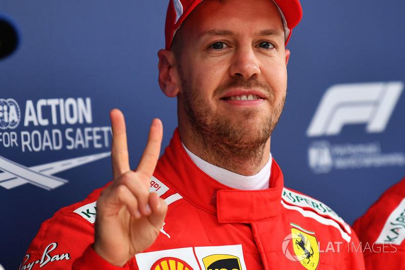Sebastian Vettel, Ferrari celebra en parc ferme