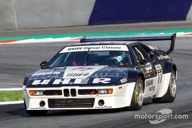 Christian Danner, BMW M1 lors de la parade des légendes