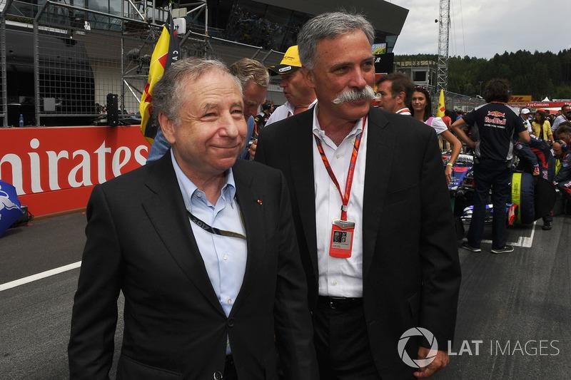 Jean Todt, FIA-Präsident; Chase Carey, Formel-1-Chef