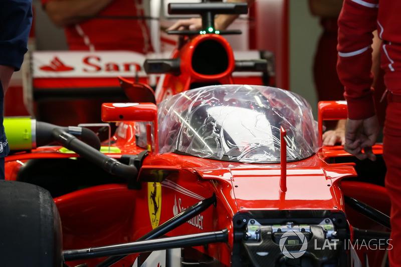 Ferrari SF70-H mit Cockpitschutz Shield