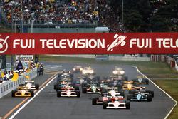 Start: Alain Prost, McLaren MP4/4, führt