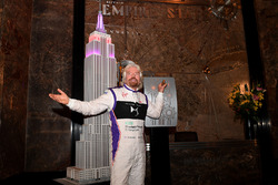 Richard Branson speaks at a press event in Manhattan