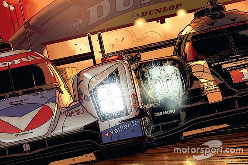 Nueva portada de cómic de Michel Vaillant Le Mans con Rebellion Racing y Porsche Team