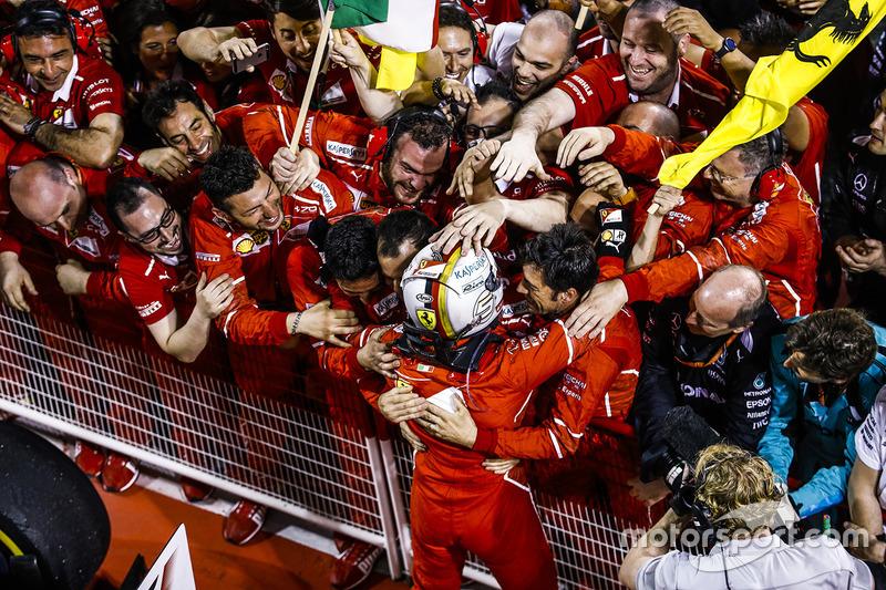 Ferrari sabe muy bien lo que es festejar en Bahrein
