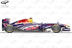 Red Bull RB7 side view, European GP