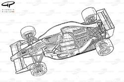 Схема Ferrari F1-90 (641) 1990 года