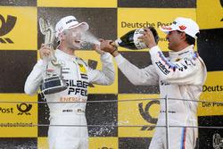 Podium : le vainqueur Maro Engel, Mercedes-AMG Team HWA, Mercedes-AMG C63 DTM et Bruno Spengler, BMW Team RBM, BMW M4 DTM