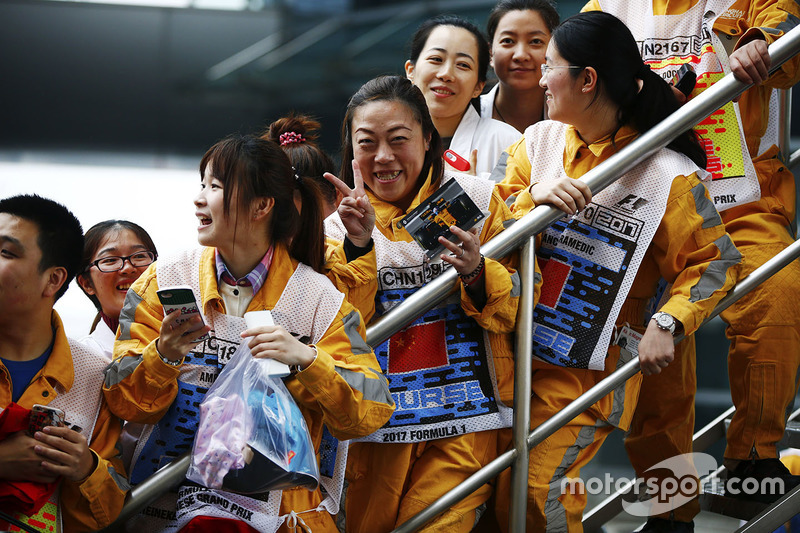 Chinese marshals in high spirits
