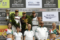 Podium: Race winner Laurens Vanthoor, Audi Sport Team WRT Audi R8 LMS; second place Kévin Estre, Man
