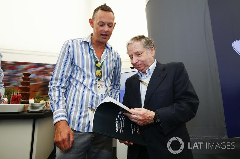 Charles Bradley, Chefredakteur, Motorsport.com; Jean Todt, FIA-Präsident