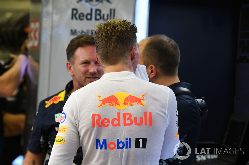 Max Verstappen, Red Bull Racing, mit Chrsitian Horner, Red-Bull-Teamchef