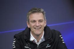 James Allison, directeur technique Mercedes AMG F1, lors de la conférence de presse