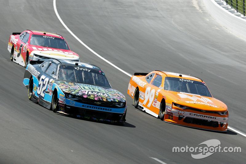 Joey Gase, Jimmy Means Racing, Chevrolet; David Starr, BJ McLeod Motorsports, Ford; Michael Annett, JR Motorsports, Chevrolet