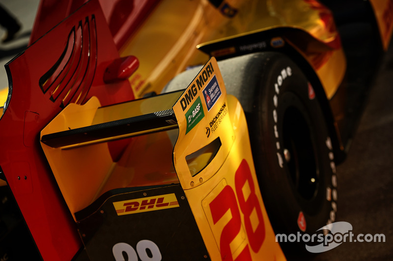 Heckflügel am Auto von Ryan Hunter-Reay, Andretti Autosport, Honda