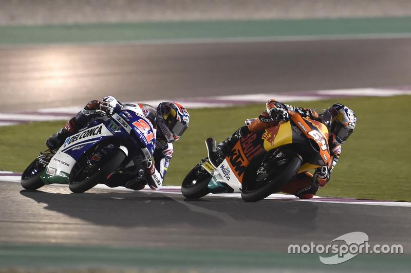 Fabio Di Giannantonio, Del Conca Gresini Racing Moto3; Bo Bendsneyder, Red Bull KTM Ajo