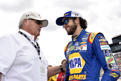 Chase Elliott, Hendrick Motorsports Chevrolet, mit Rick Hendrick