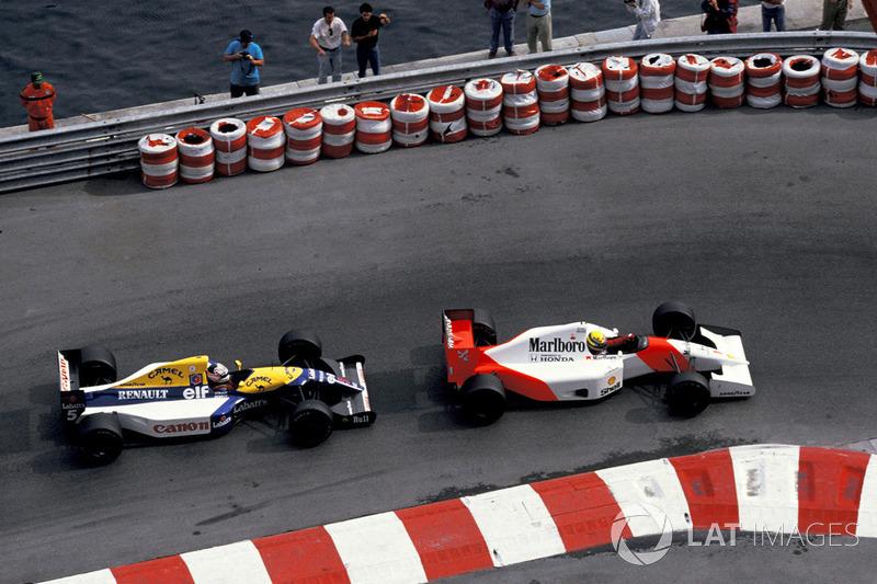 Айртон Сенна (McLaren MP4/7A Honda), Найджел Менселл (Williams FW14B Renault)