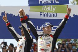 Winners Esapekka Lappi, Janne Ferm, Toyota Racing