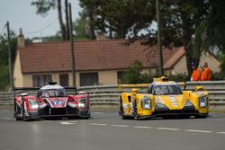 #17 IDEC Sport Racing Ligier JS P217 Gibson: Patrice Lafargue, Paul Lafargue, David Zollinger, #29 Racing Team Nederland Dallara P217 Gibson: Rubens Barrichello, Jan Lammers, Frits van Eerd
